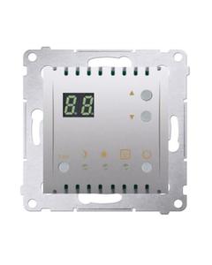 Simon 54 Regulator temperatury z wyświetlaczem z czujnikiem wewnętrznym 16(2) A 230V srebrny mat DTR...
