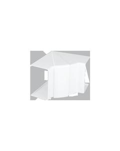 Simon Connect Regulowany kąt wewnętrzny Cabloplus 130x55mm czysta biel
