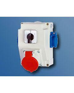 Zestaw instalacyjny z gniazdem JURATA 16A/5B 0-1 1X250V AEP