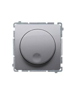 Simon Basic Ściemniacz naciskowo obrotowy (moduł) 20-500W 230V stal inox BMS9T.01/21