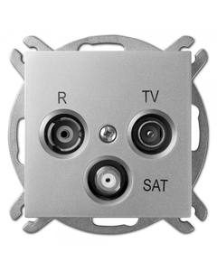 Sentia Gniazdo antenowe RD/TV/SAT końcowe srebrny połysk 1453-56