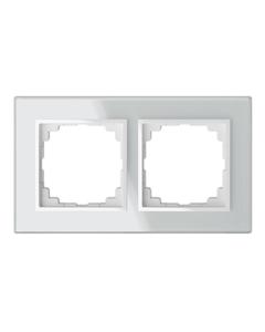 Sentia Ramka podwójna szklana biała 1472-62