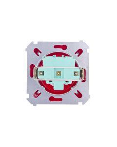 Simon Basic Gniazdo bryzgoszczelne z/u IP44 z przesłoną torów i klapką czerwone BMGZ1Bz.01/22a