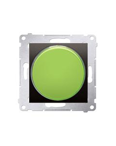 Simon 54 Sygnalizator świetlny LED zielone światło brąz mat DSS3.01/46