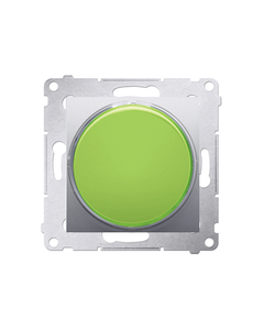 Simon 54 Sygnalizator świetlny LED zielone światło srebrny mat DSS3.01/43