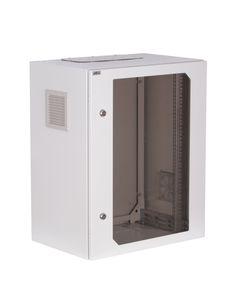 Szafa RACK 19cali 15U 600x600mm IP54 drzwi przeszklone SWK19-15U-60-DS-W  19-6014SWK19-15U-60-DS-W