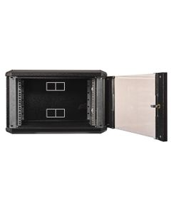 Obudowa wisząca 19 cali 6U 600x400mm IP30 RAL9005 (drzwi przeszklone) SIDE-O19-6U-40-DS-C  19-5027SI...