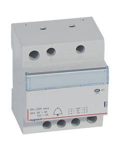Transformator dzwonkowy modułowy TR323 230/12/8V 24VA 2/3A 413092