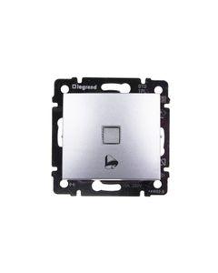 VALENA Przycisk /dzwonek/ z podświetleniem aluminium 770215
