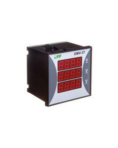 Woltomierz 3-fazowy cyfrowy modułowy 100-300V AC dokładność 0,5% DMV-3RMS