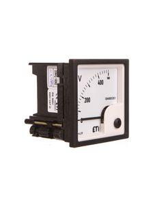 Woltomierz analogowy tablicowy 500V klasa 1,5 72x72mm EQ72 004805351