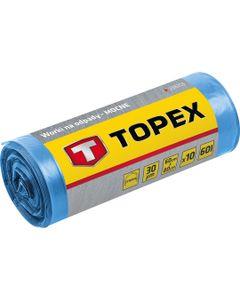 Worki na odpady 240 L niebieskie bardzo mocne wymiary 120x150cm grubość 45 mic folia LDPE 23B259 /10...