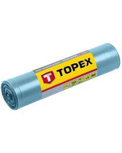 Worki na ciężkie odpady 80 L błękitne super mocne wymiary 60x90cm - grubość 100 mic folia LDPE 23B25...
