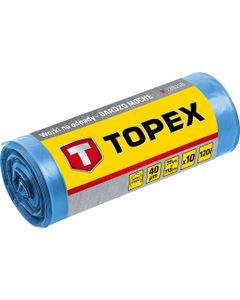 Worki na odpady 120 L niebieskie bardzo mocne wymiary 70x110cm grubość 40 mic folia LDPE 23B258 /10s...