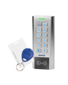 Zamek szyfrowy wąski z czytnikiem kart i breloków zbliżeniowych, IP66 , 2 przekaźniki 2A, wymiary 13...
