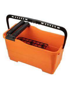 Zestaw glazurniczy: pojemnik z kratką i rolkami 25l, paca z gumą, paca z gąbką miękką 50-253