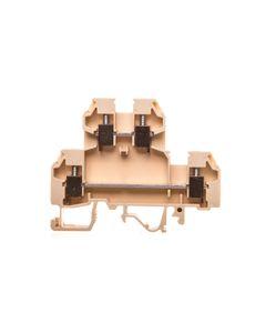 Złączka szynowa gwintowa 2-piętrowa 4mm2 beżowa VS 4 NA 003901277
